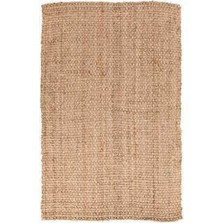 Hand-woven Carter Natural Fiber Jute Rug (3'6 x 5'6)