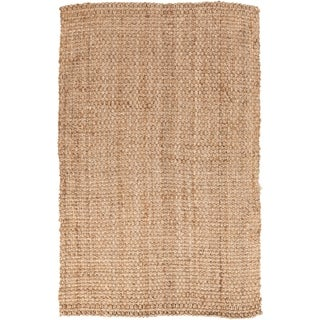 Hand-woven Carter Natural Fiber Jute Area Rug (3'6 x 5'6)