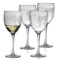 Sonoma Handcut White Wine Glasses (Set of 4)
