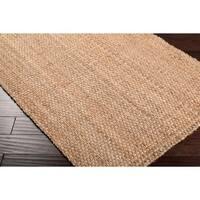 Hand-woven Carter Natural Fiber Jute Area Rug (2'6 x 4')