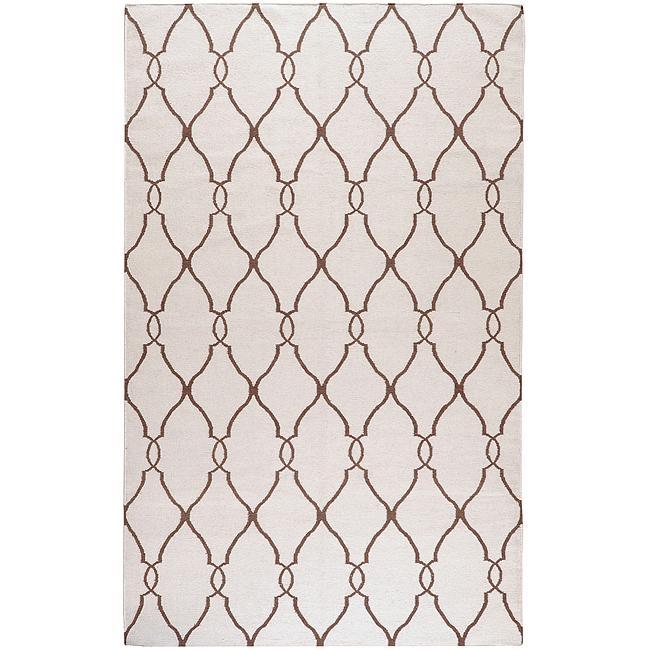 Hand-woven Rutledge Wool Rug (8' x 11'), Ivory, Size 8' x...