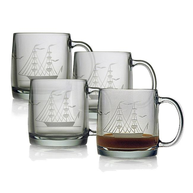 Clipper Ship Coffee Mugs (Set of 4)