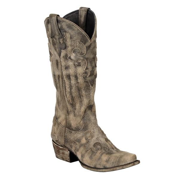 Lane Boots Women's 'Dawson' Black Cowboy Boots