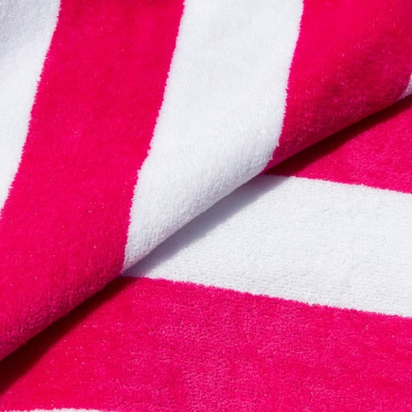 Hot Pink Towels Bathroom: Cabana Stripe Hot Pink And Lime Beach Towels (Set Of 2
