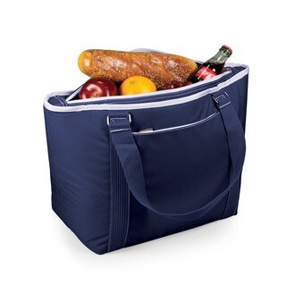 Picnic Time Topanga Navy Large Insulated Shoulder Tote