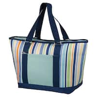 Picnic Time Topanga Striped Large Insulated Shoulder Tote