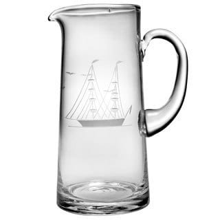 Clipper Ship Handcut 60-ounce Tankard Pitcher