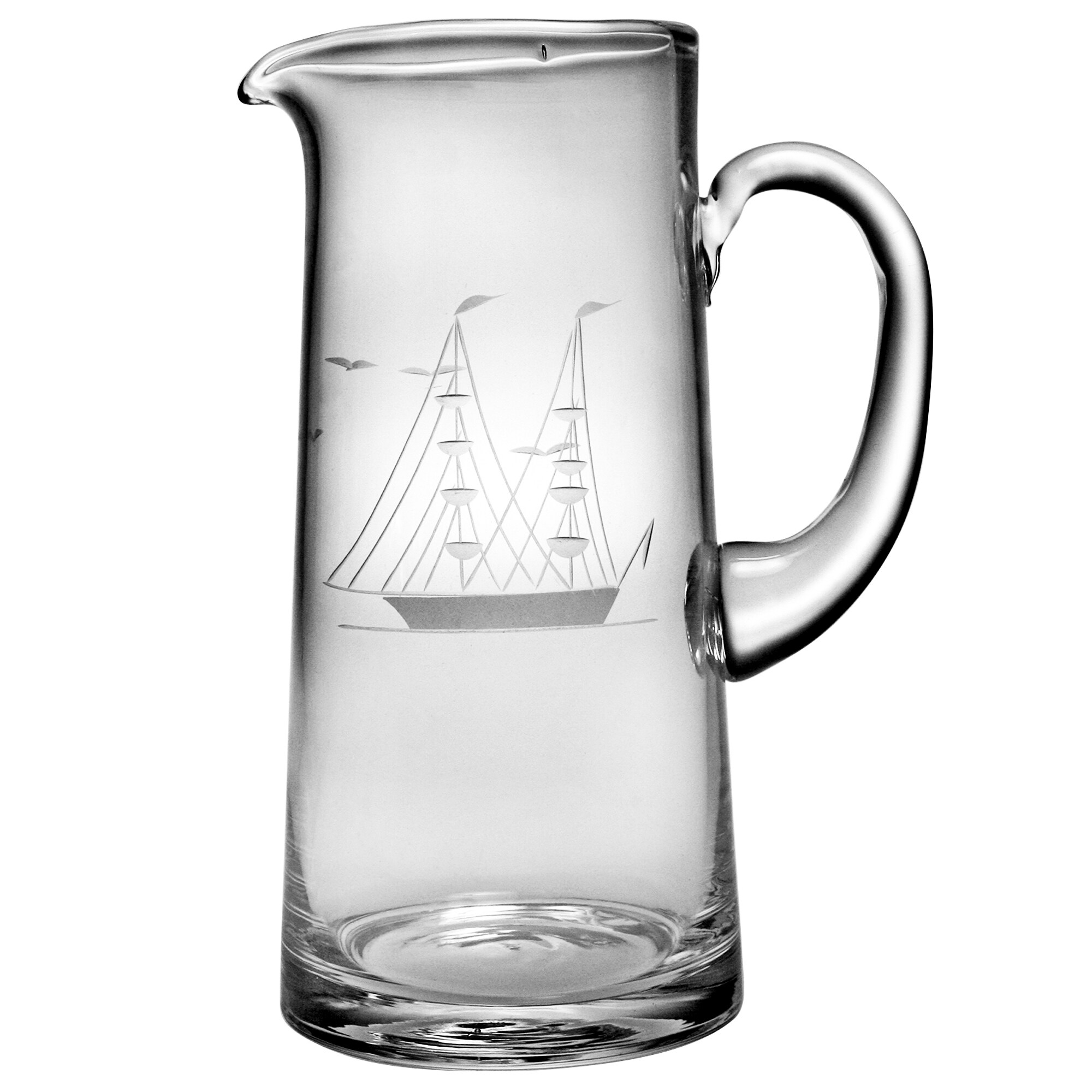 Susquehanna Glass Clipper Ship Handcut 60-ounce Tankard P...