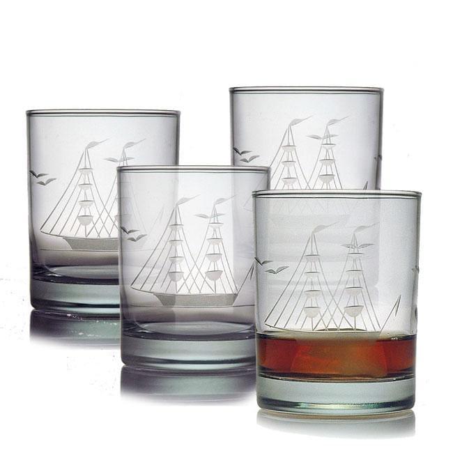 Susquehanna Glass Clipper Ship Handcut Rocks Glasses (Set...