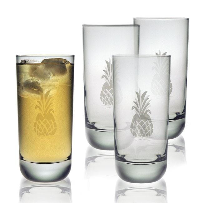 Pineapple Collection Heavy Base Hiball Glasses (Set of 4)