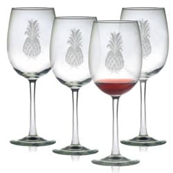 Pineapple Collection Wine Glasses (Set of 4)