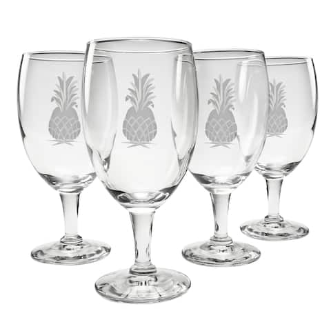 Pineapple Collection Footed Goblet (Set of 4)