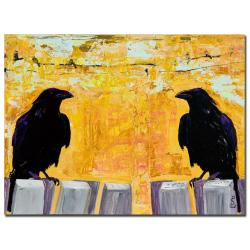 Pat Saunders-White 'Gossiping' Canvas Art
