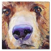 Pat Saunders-White 'The Sniffer' Canvas Art