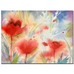 Sheila Golden 'Poppy Splash' Canvas Art