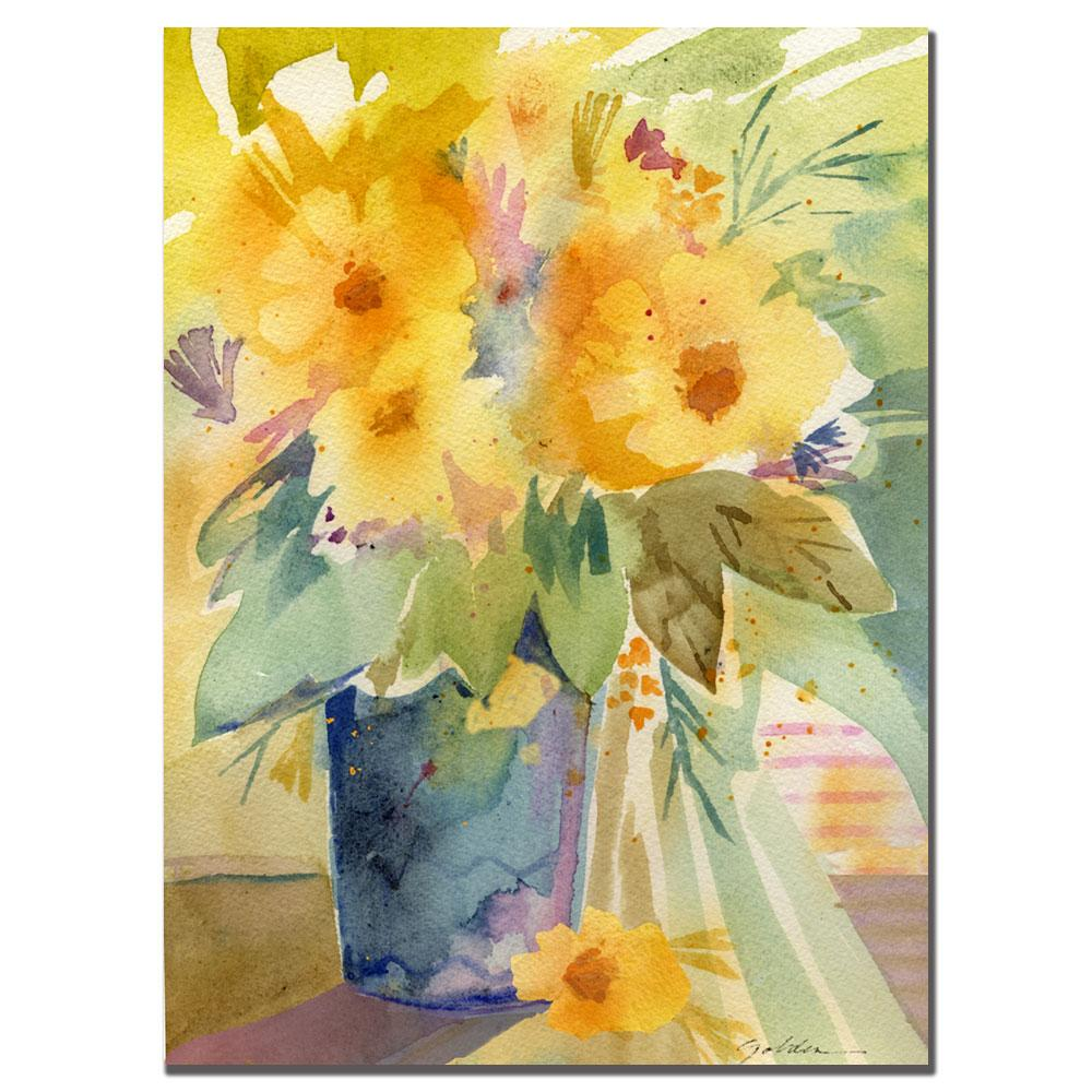 Sheila Golden 'Yellow Print' Canvas Art - Thumbnail 1