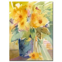 Sheila Golden 'Yellow Print' Canvas Art