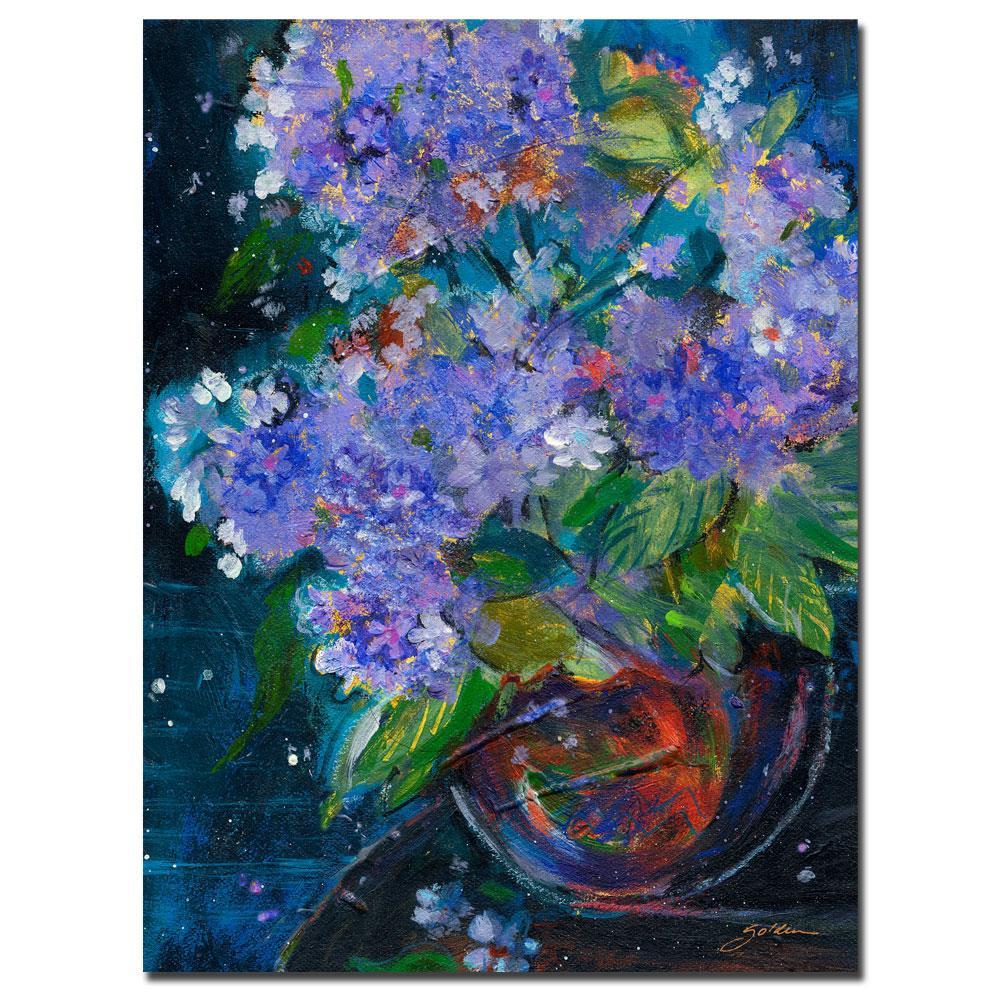 Sheila Golden 'Bouquet in Violet' Canvas Art