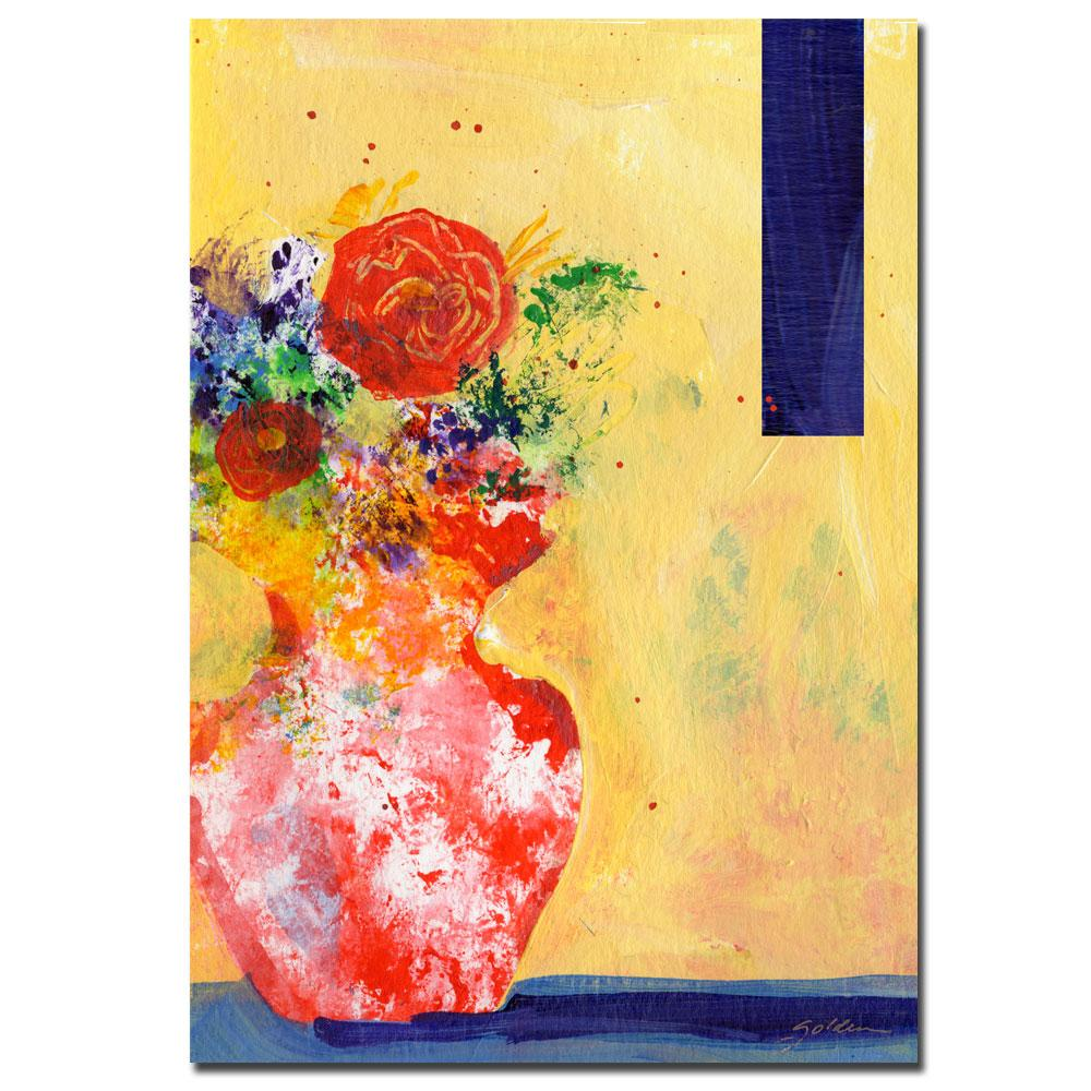 Sheila Golden 'Red Vase' Canvas Art