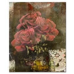 Miguel Paredes 'Classic Rose II' Canvas Art
