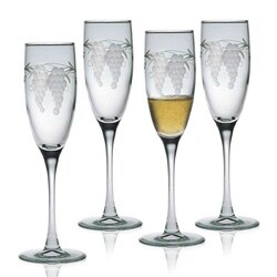 Sonoma Handcut Champagne Flutes (Set of 4)