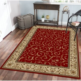 Admire Home Living Amalfi Scroll Area Rug (7'9 x 11') - 7'9 x 11'