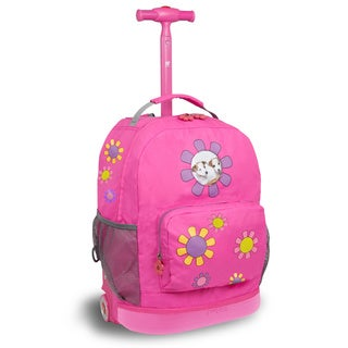 J World 'Daisy' 16-inch Kid's Rolling Backpack
