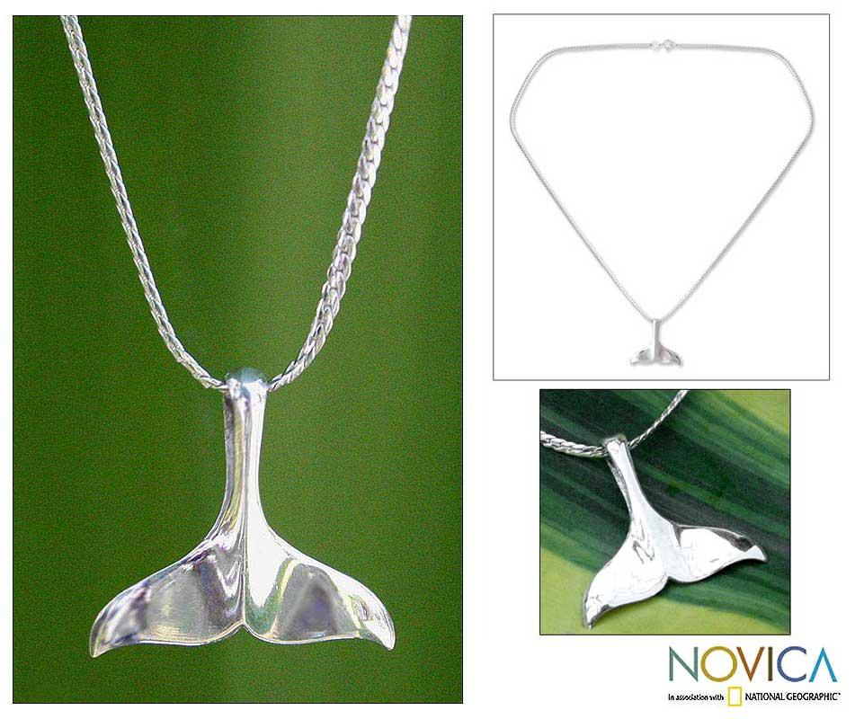 Sterling Silver 'Whale Watching' Necklace (Thailand)