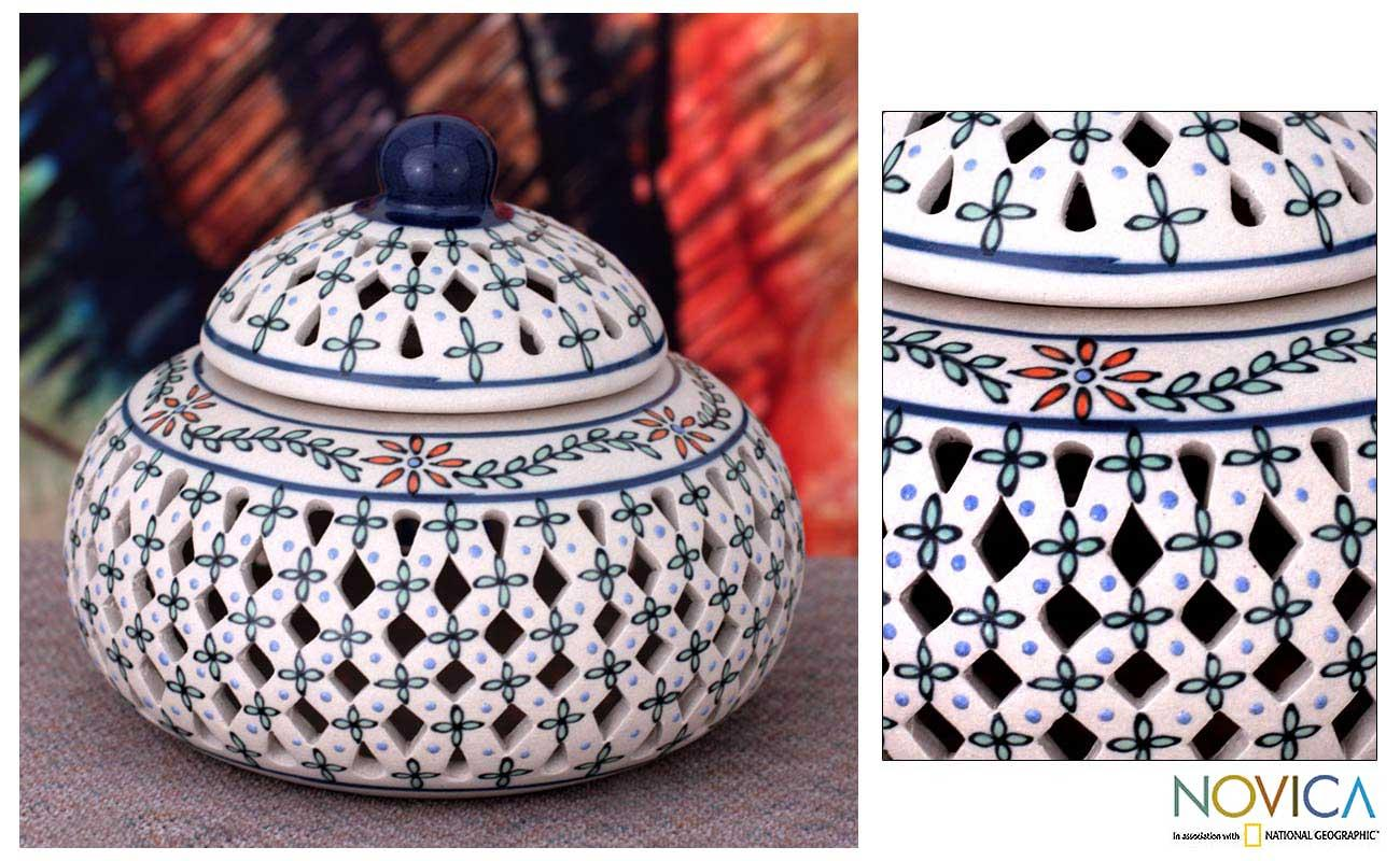 Handcrafted Ceramic 'Sweetest One' Jar (Mexico)