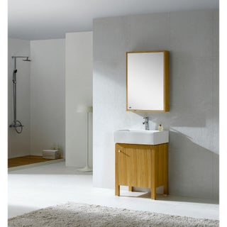 Fine Fixtures Imperial 23-inch Wood Light Maple/ White Bathroom Vanity and Medicine Cabinet
