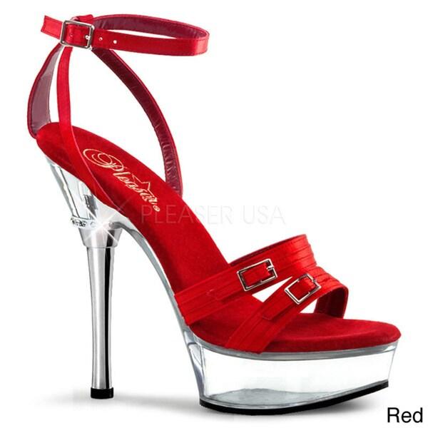 Pleaser 'Allure' Women's Satin Stiletto Sandals
