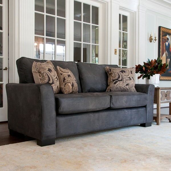 Handy Living Spencer Black Pearl Renu Sofa Set