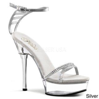 Pleaser 'Allure' Women's Rhinestone Ankle-strap Stiletto Sandals