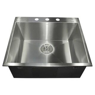 Stainless Steel Zero-radius Drop-in Sink