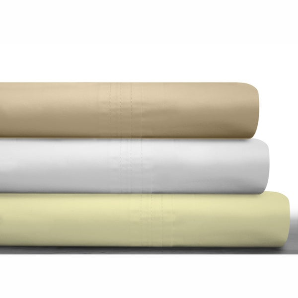 Egyptian Cotton Percale 450 Thread Count Extra Deep Pocket Sheet Set