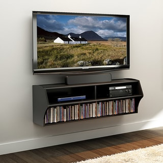 Broadway Black Wall Mounted A/V Console