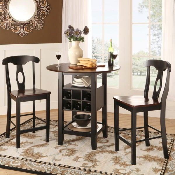 Rwanda Two-tone Napoleon 3-piece Bistro Kitchen Set by iNSPIRE Q Classic