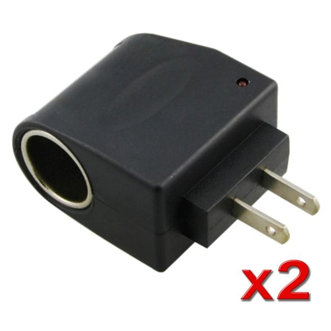 INSTEN AC to DC Car Charger Socket Adapter (Pack of 2)