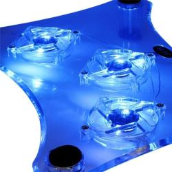 INSTEN Transparent Laptop Cooling Fan with Blue LED Light - Thumbnail 1