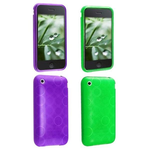 Circle TPU Case for Apple iPhone 3G (Pack of 2)