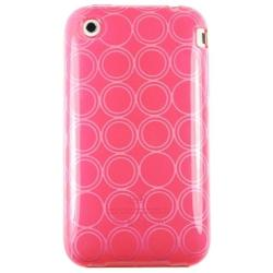 Clear Hot Pink TPU Rubber Case/ Screen Protector for Apple iPhone 3G