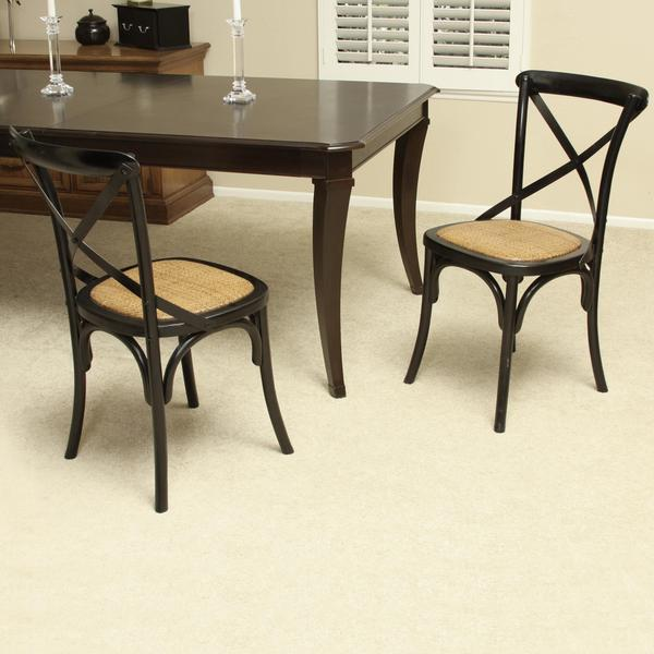 Black Birch Wood Cross Back Dining Chair By Christopher Knight Home