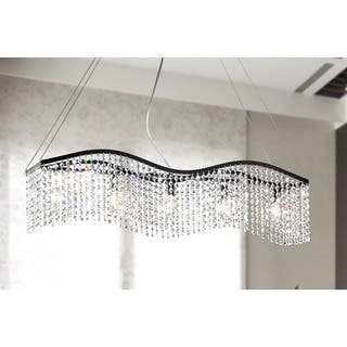 Wave 5-light Black and Crystal Chandelier|https://ak1.ostkcdn.com/images/products/5997014/P13684782.jpg?impolicy=medium