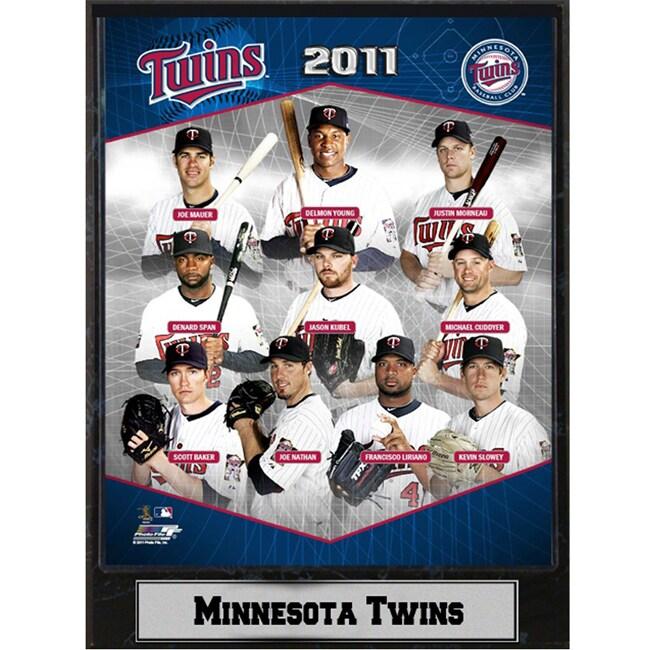 2011 Minnesota Twins Stats Plaque