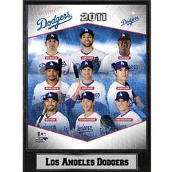 2011 Los Angeles Dodgers Stats Plaque