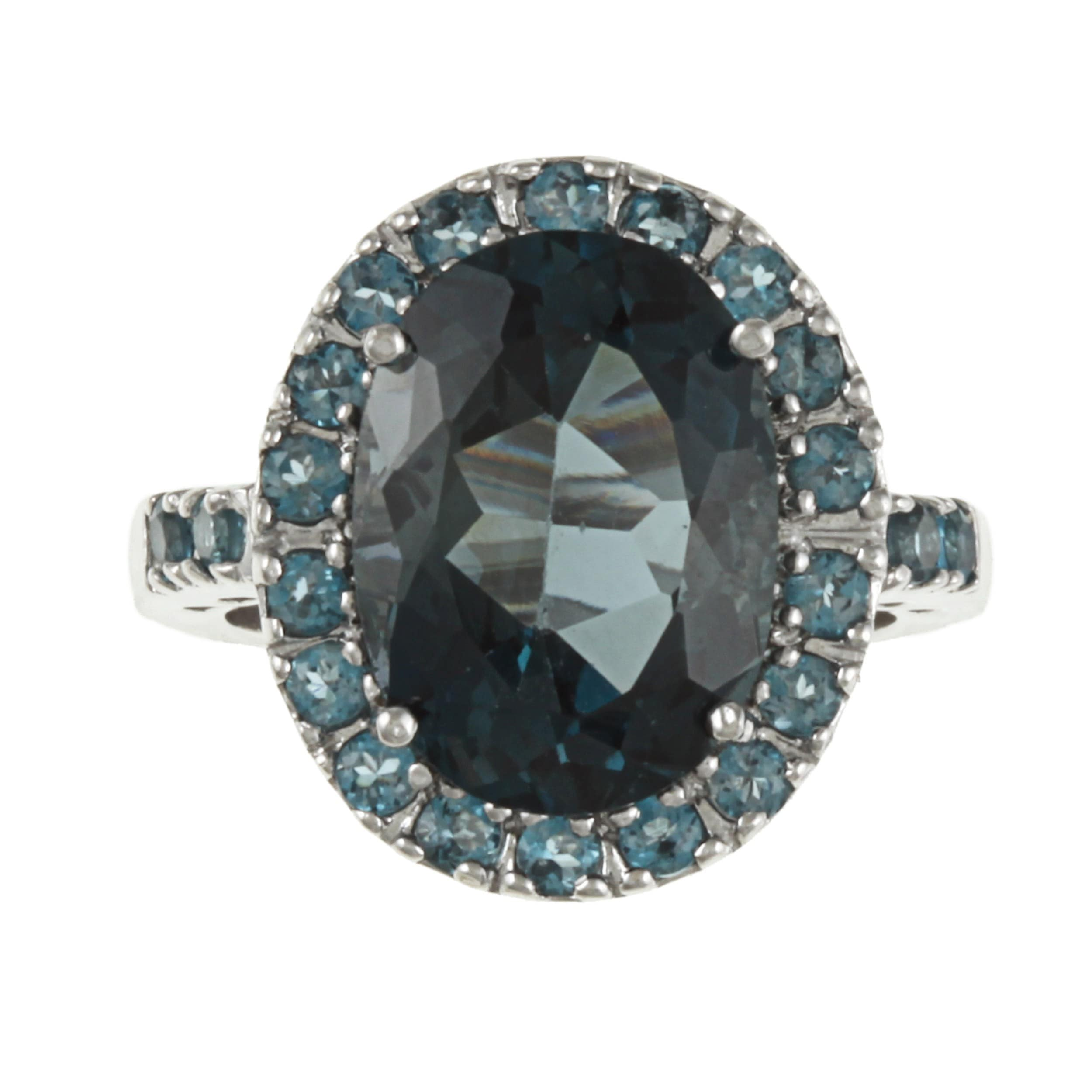 Blue Topaz Quartz Silver Plated 18 Grams Earring 1.75 Handmade Jewellry Awesome