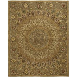Safavieh Handmade Heritage Timeless Traditional Light Brown/ Grey Wool Rug (5' x 8')
