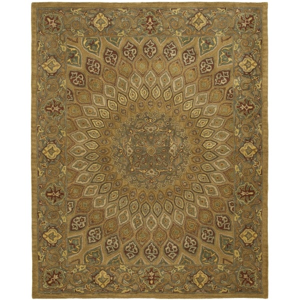 Safavieh Handmade Heritage Timeless Traditional Light Brown/ Grey Wool Rug (5' x 8')