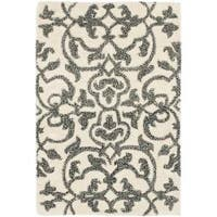 Safavieh Handmade Soho Ivory/ Grey New Zealand Wool Rug - 2' x 3'