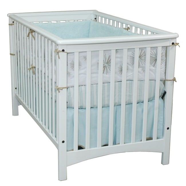 London Euro-style Matte White Stationary Crib